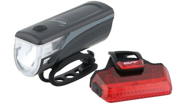 Contec LED-Batterieleuchtenset Speed-LED grau